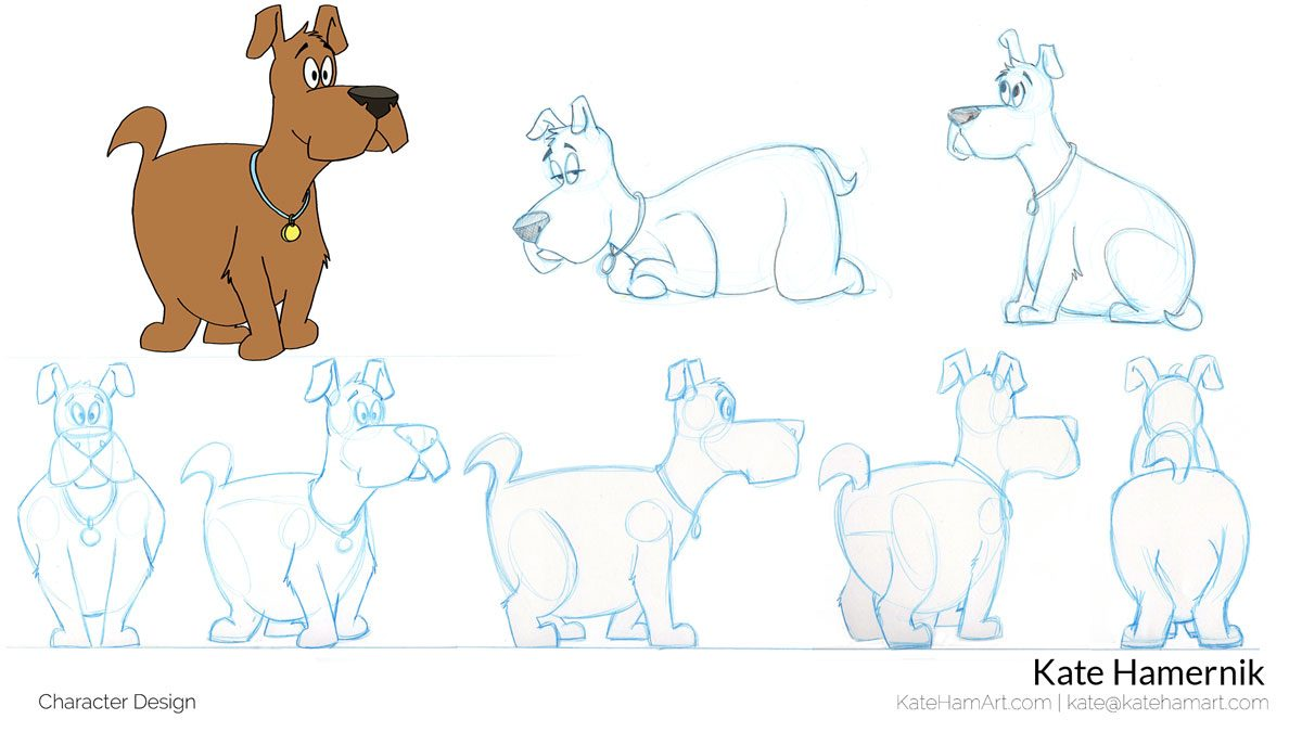 portfolio wilbur final dog character design